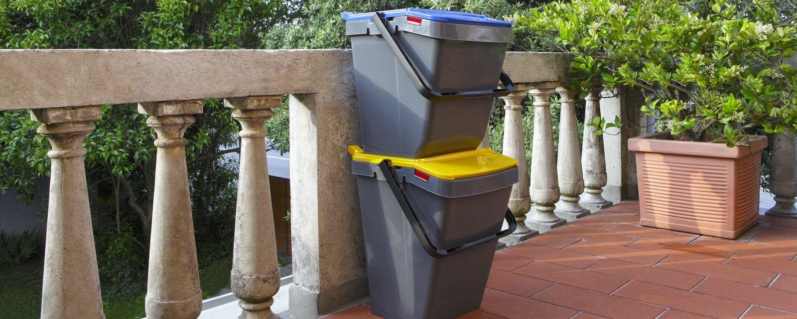 Stapelbare Recycling Müllbehälter