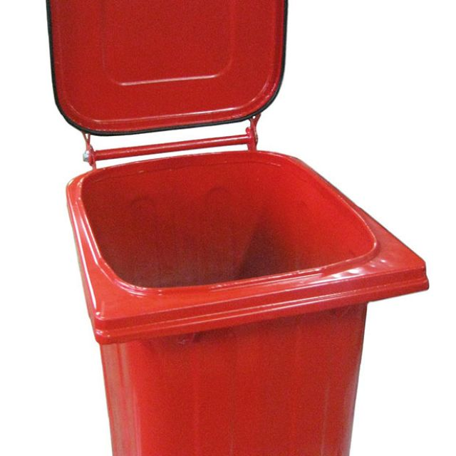 Müllcontainer pulverbeschichtet